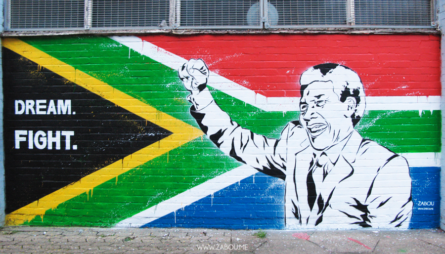 Tribute to Nelson Mandela by Zabou