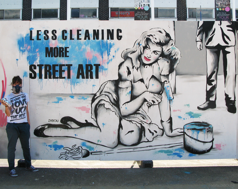 Less Cleaning More Street Art