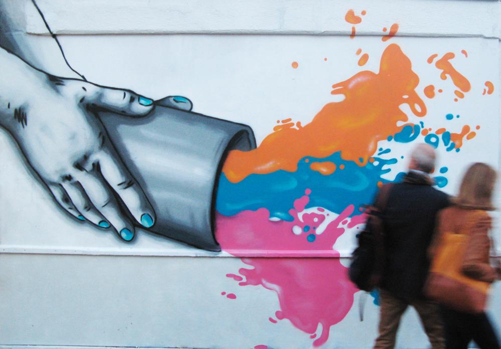 """Title: """"Add More Colours"""" – Zabou – Paris 13, France – 2015"""