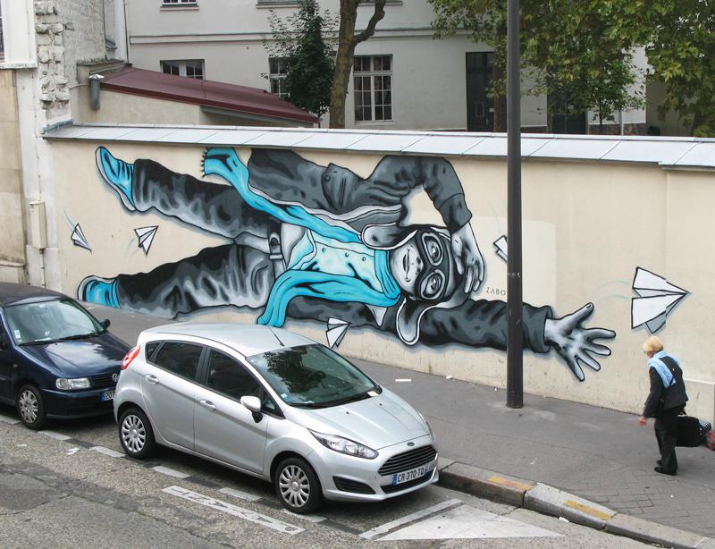 """Title: """"Paper Planes (Les Avions En Papier)"""" – Zabou – Paris 13, France – 2015"""