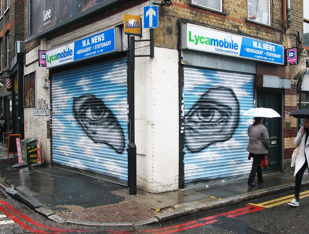 """Title: """"Balaclava"""" – Zabou – 5×2.5m – London, UK – 2015"""