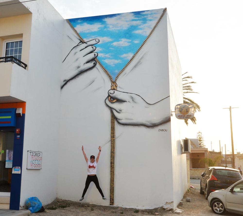 """Title: """"Beyond The Concrete"""" – Zabou – 9×4.5m – Athienou, Cyprus – 2015"""