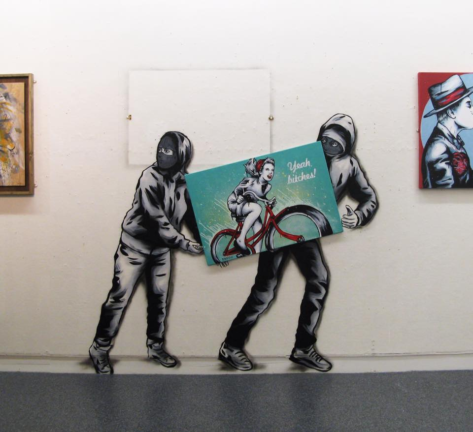 Title: 'Art Thieves' – City Museum, Gloucester, UK – 2015
