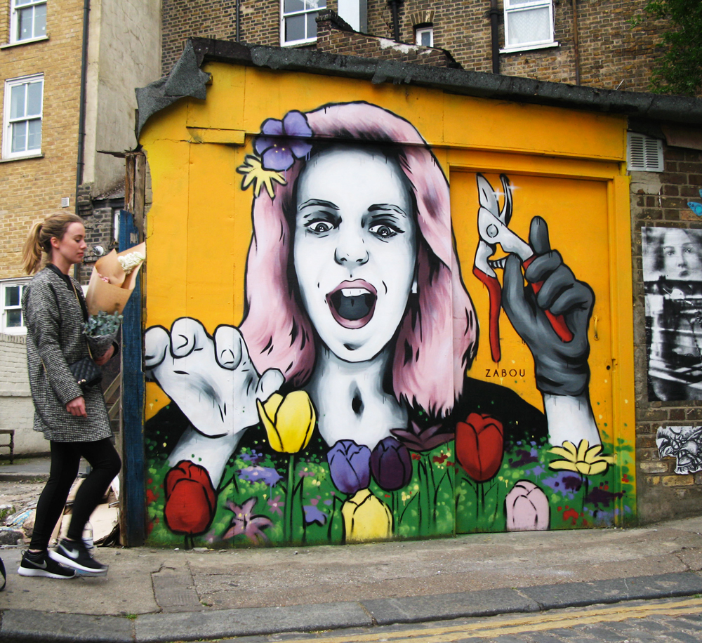 Title: 'Flower Frenzy' – Columbia Road, London, UK – 2015