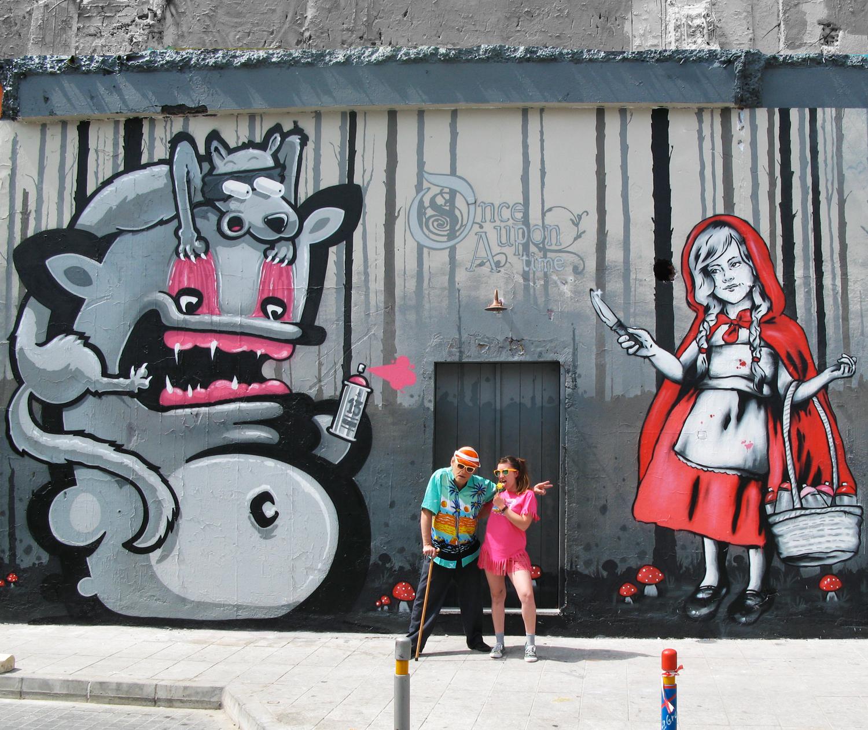 "Title: ""Once Upon A Time"" – Zabou & Kiwie – 8x5m – Limassol, Cyprus – 2015"