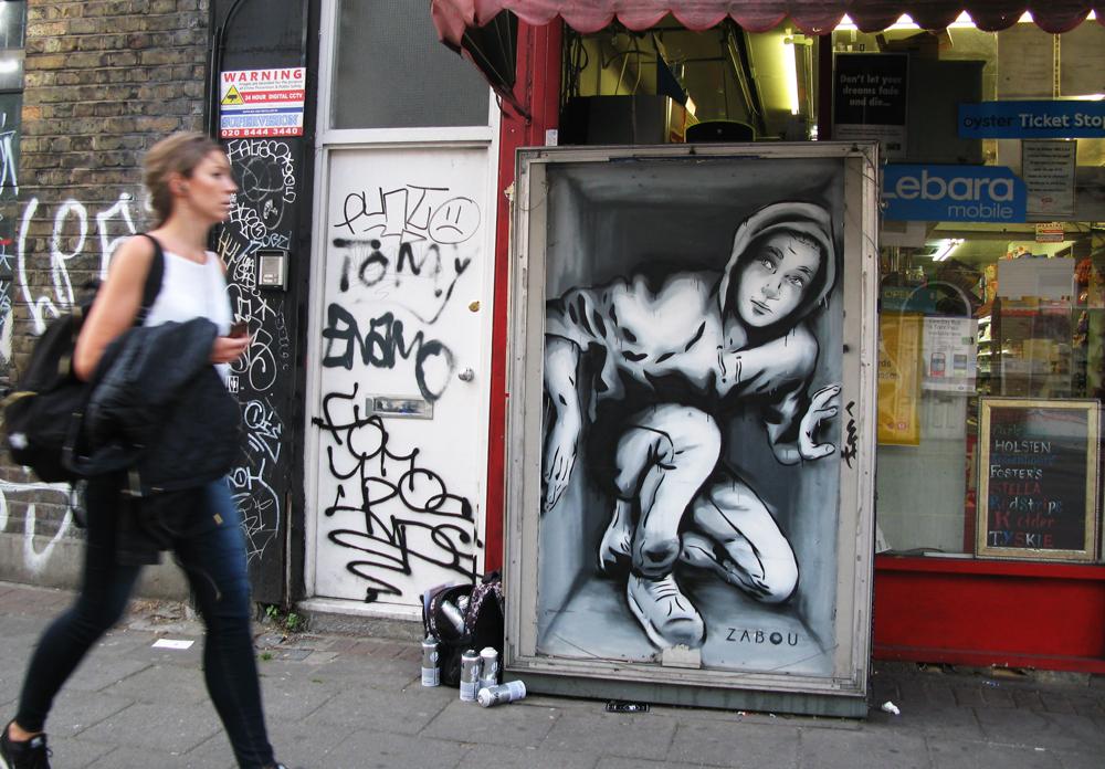 """Title: """"Framed (Coffré)"""" – Zabou – London, UK – 2015"""
