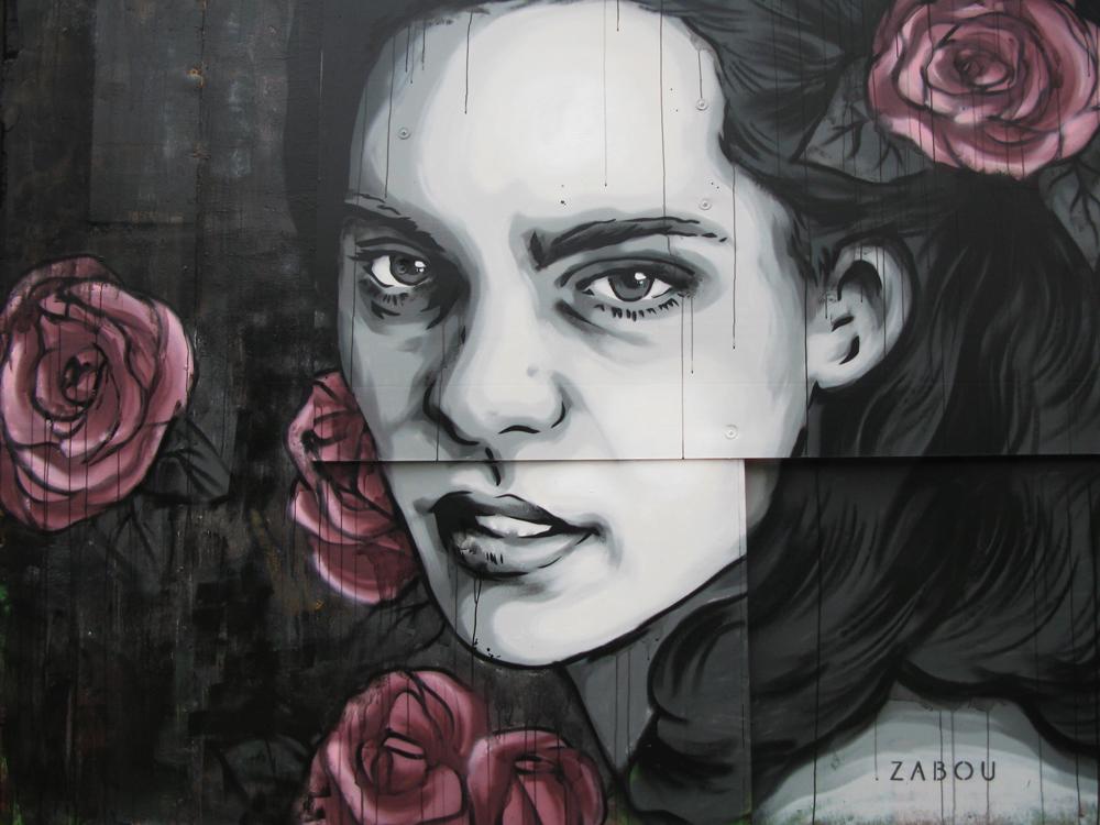 "Title: ""Roses Have Thorn (Les Roses Ont Des Epines) – Zabou – 3x2m – London, UK – 2015"