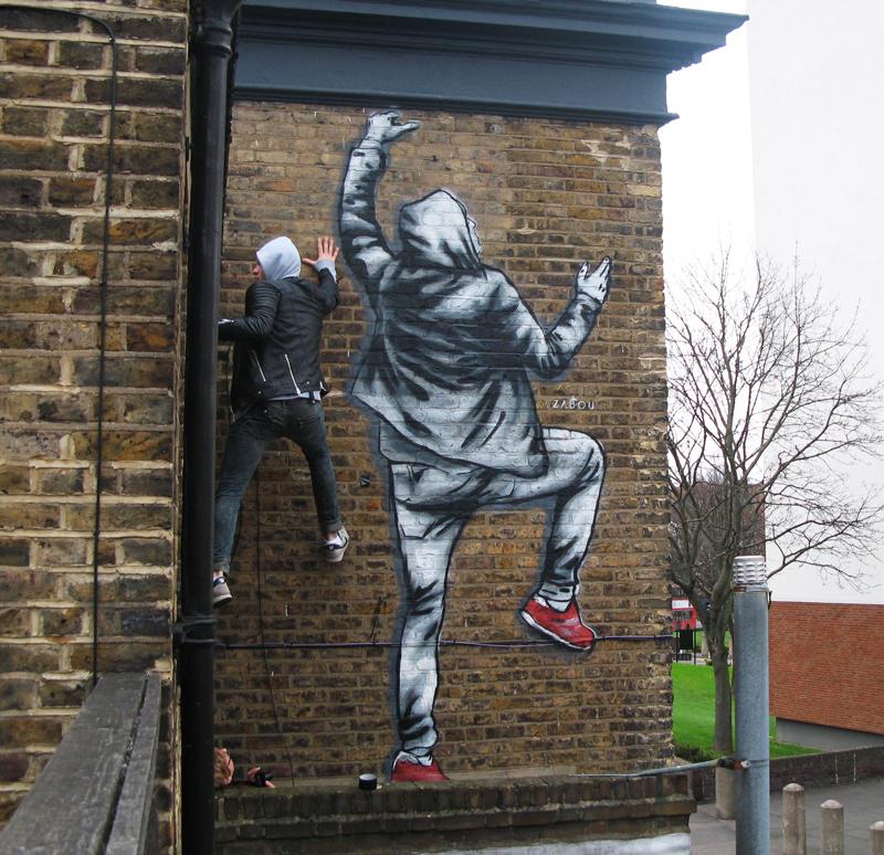 "Title: ""The Climber"" – Zabou – 3x2m – London, UK – 2015"