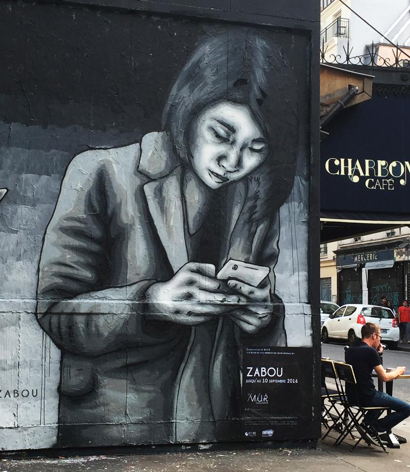 """All Addicted"" – Zabou – 9x4m – Paris, France – 2016"