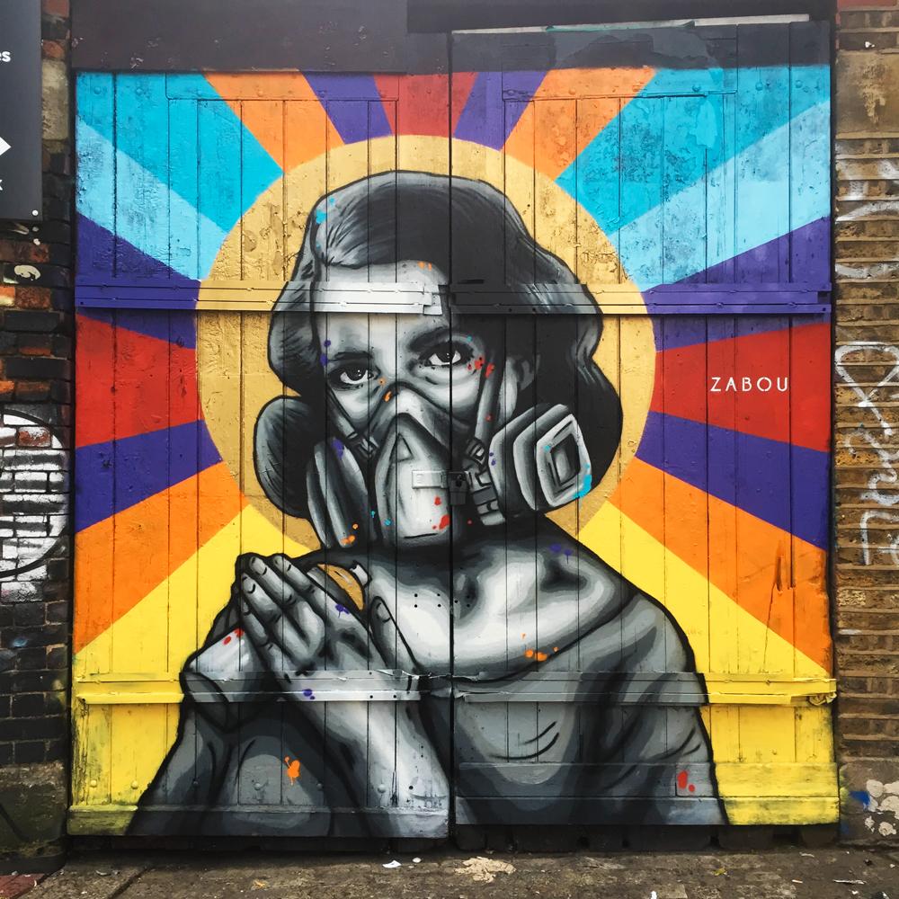 """""""(s)Pray"""" – Zabou – 2x2m – London, UK – 2016"""