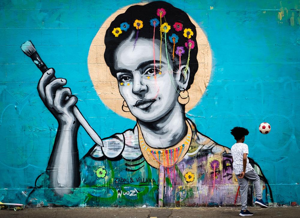 """Frida"" – Zabou & Villana – 3x6m – London, UK – 2016"