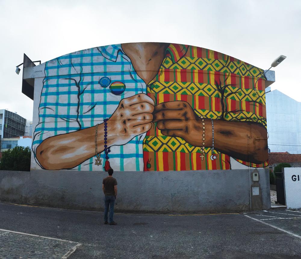 """Together"" – Zabou – 11x7m – Lisbon, Portugal – 2016"