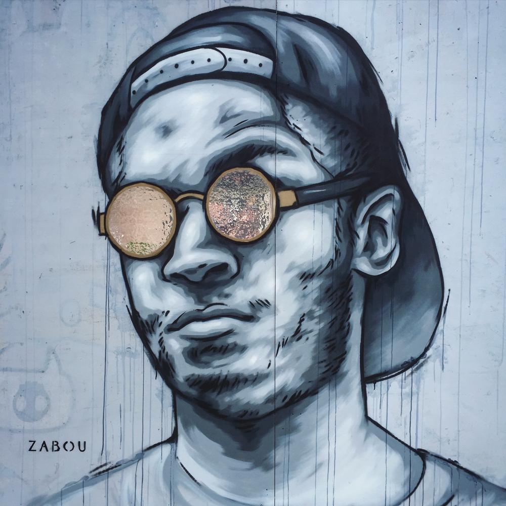 """""""Reflections"""" – Zabou – 2x2m – Bristol, UK – 2016"""