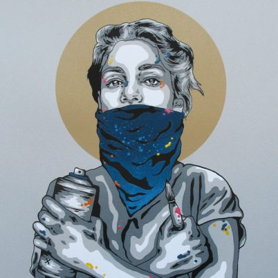 SCREEN PRINT A.P // SÉRIGRAPHIE E.A 'IN ART WE TRUST' HAND-FINISHED BLUE