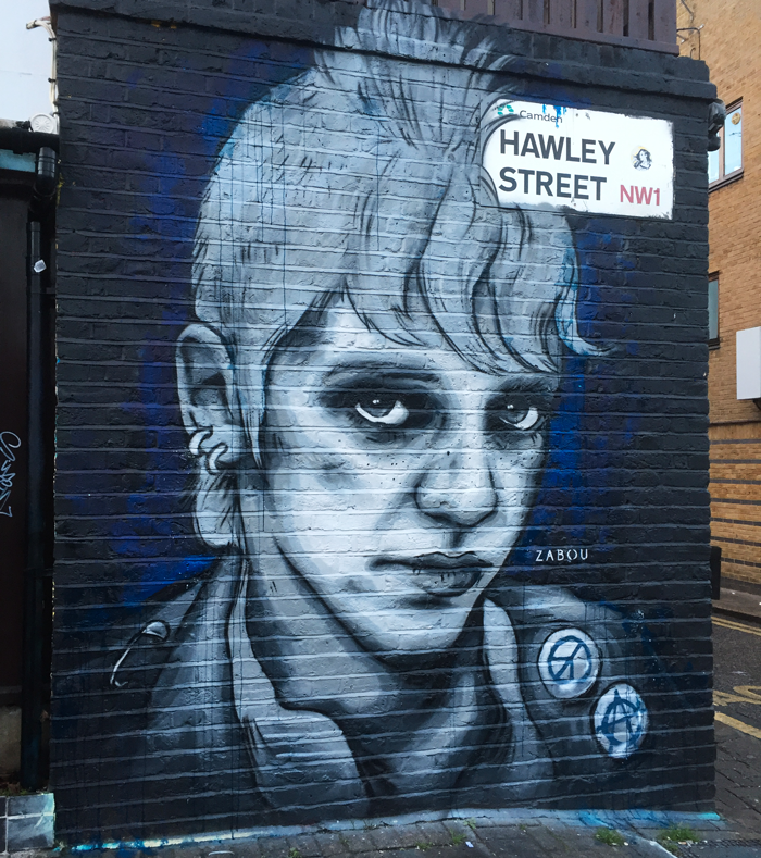 """Little Punk"" – Zabou – 2x3m – London, UK – 2017"