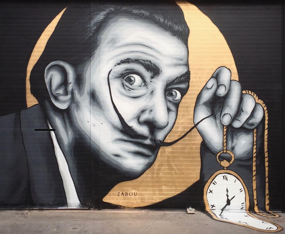 """""""Salvador Dali"""" – Zabou – 3x2m – London, UK – 2017"""