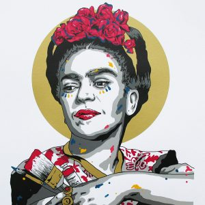 SCREEN PRINT // SÉRIGRAPHIE 'FRIDA' HAND-FINISHED
