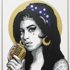 SCREEN PRINT // SÉRIGRAPHIE 'AMY' HAND-FINISHED PURPLE