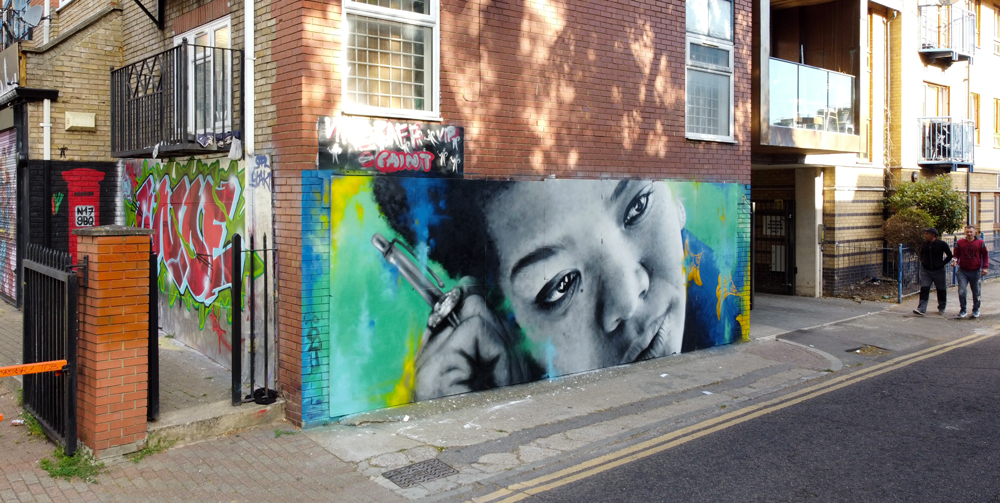 Zabou - Street Art Portrait of Maya Angelou