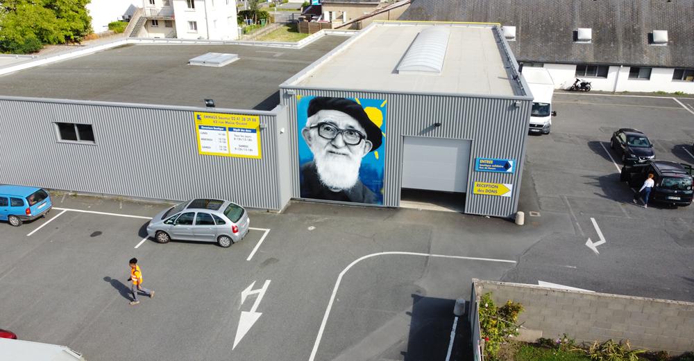 Zabou - Street Art Portrait of Abbé Pierre