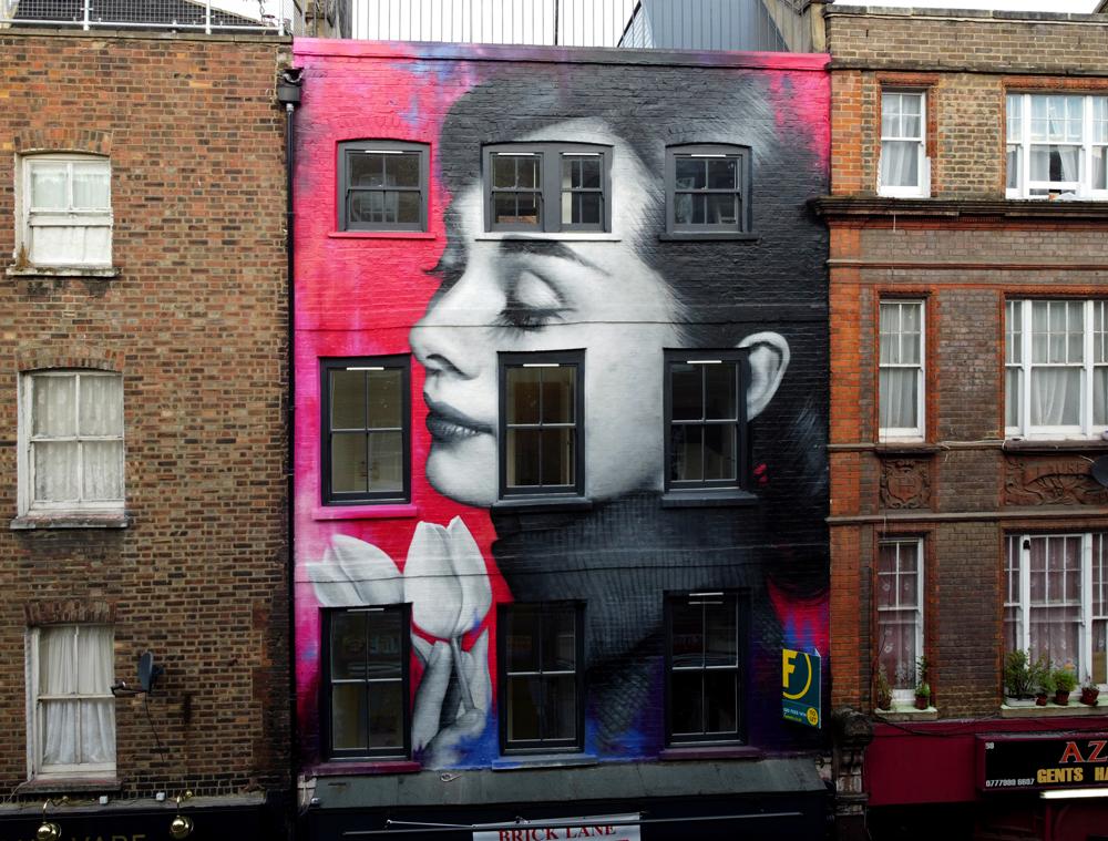 Zabou - Street Art Portrait of Audrey Hepburn