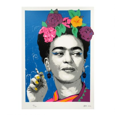 SCREEN PRINT // SÉRIGRAPHIE 'FRIDA SMOKING' HAND-FINISHED