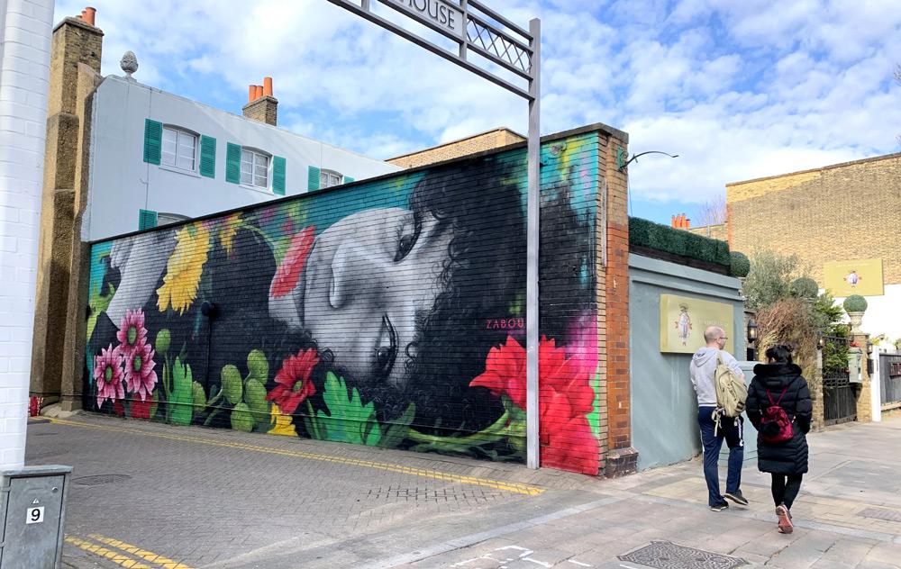 Zabou - Street Art Portrait of Eva Lazarus
