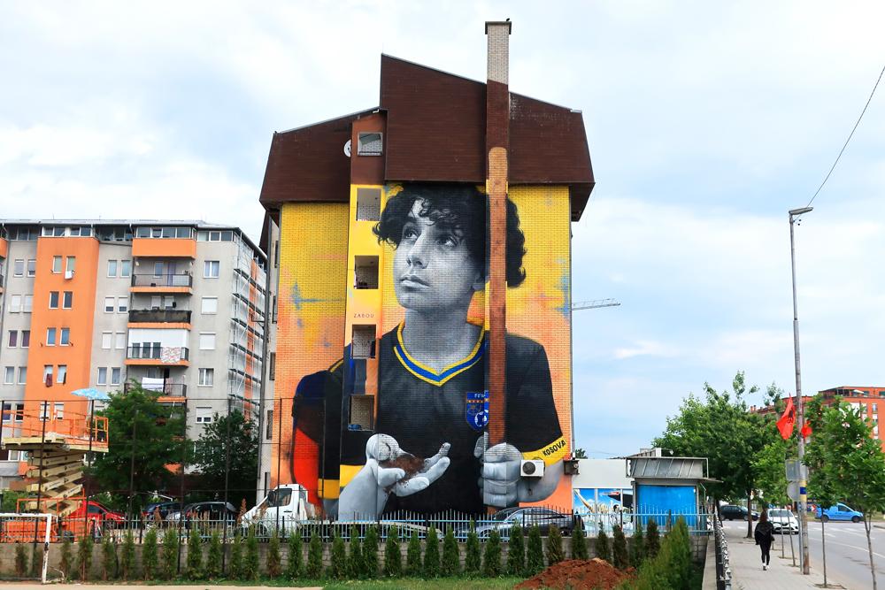 Zabou - Street Art Portrait in Kosovo